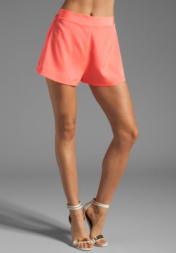 OUTFIT OF THE DAY: SILK SALMON SHORTS